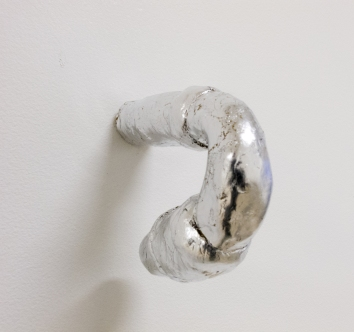 """Sounding (D), 2015, clay with leafing, 4-1/4"""" x 1-1/2"""" x 5-1/4"""""""