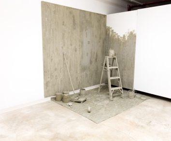 Erik Sommer, Painting, Interior, 2015 cement, approx. 8 x 6 ft